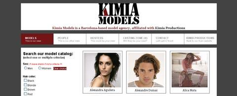 Page d'accueil du site, qui présente directement le catalogue